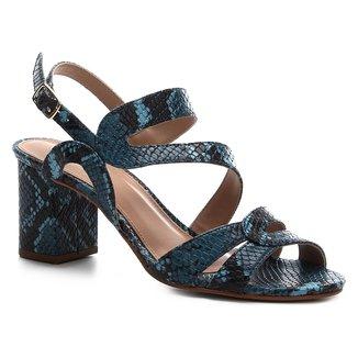 Sandália Shoestock Salto Bloco Snake Curves Feminina