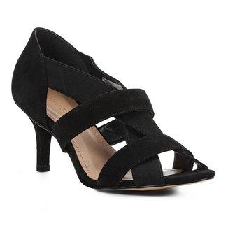 Sandália Shoestock Salto Fino Elástico Feminina