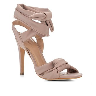 Sandália Shoestock Salto Fino Lace Up Feminina