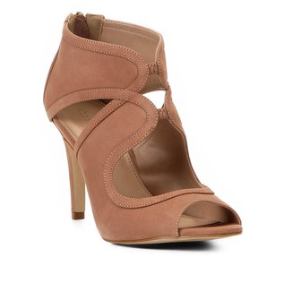 Sandália Shoestock Salto Fino Nobuck Feminina