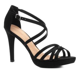 Sandália Shoestock Salto Fino Recortes Feminina