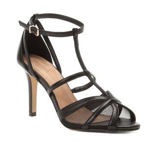 Sandália Shoestock Salto Fino Tela Feminina
