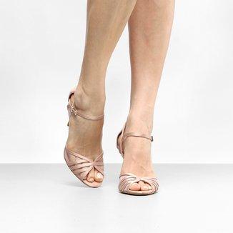 Sandália Shoestock Salto Fino Transparente Feminina