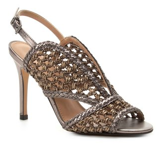 Sandália Shoestock Salto Fino Tressê Feminina
