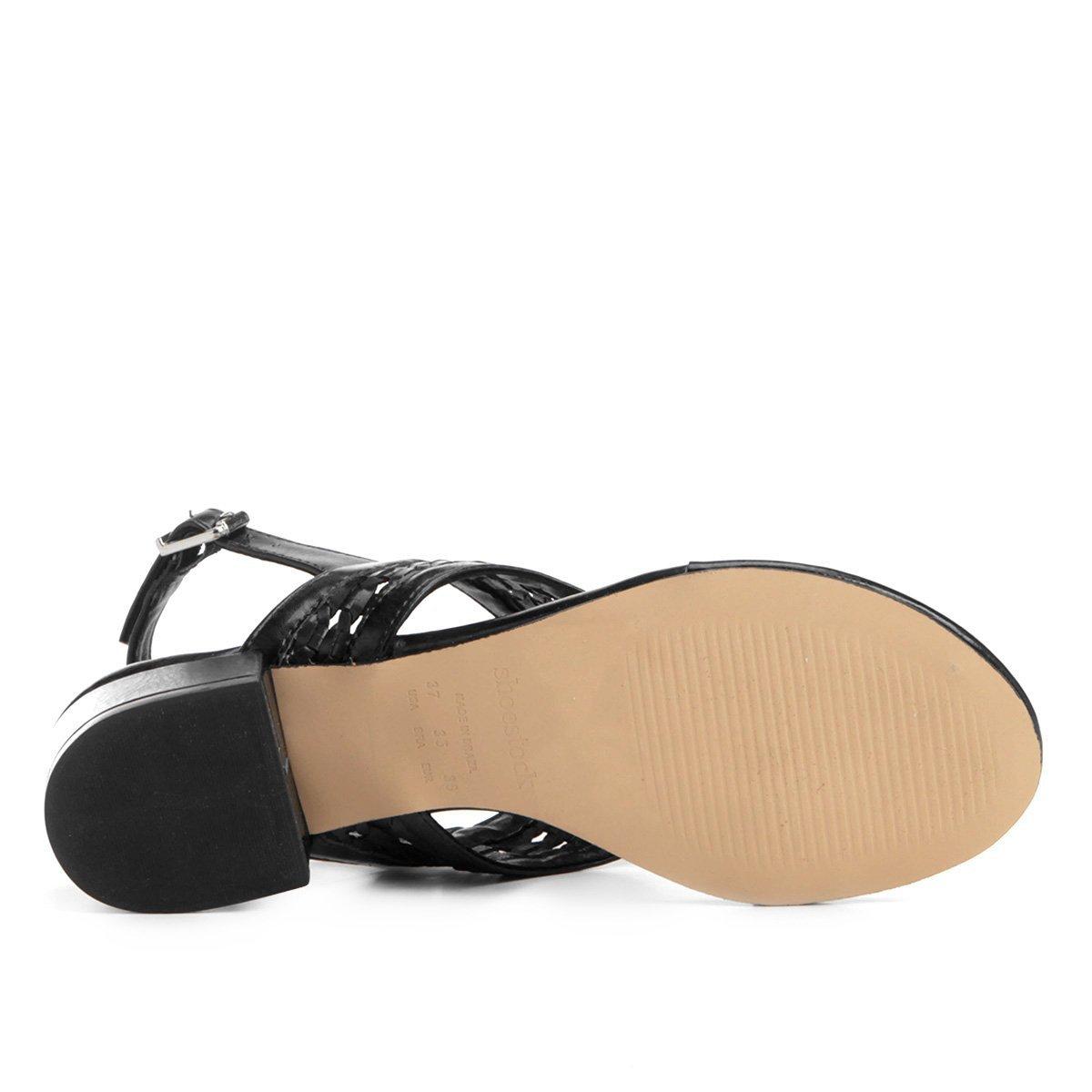 Salto Sandália Sandália Preto Shoestock Grosso Shoestock Grosso Tressê Tressê Feminina Preto Feminina Sandália Salto qFnwCzHH