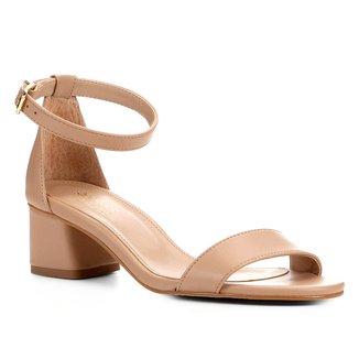 Sandália Shoestock Salto Médio Naked Feminina