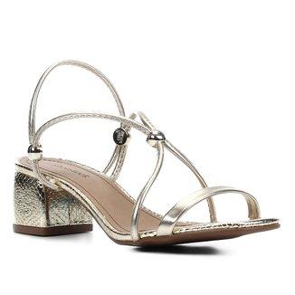Sandália Shoestock Tiras Salto Bloco Médio