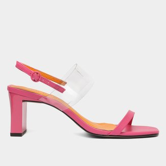 Sandália Steal The Shoestock Tira Vinil Salto Grosso Feminina