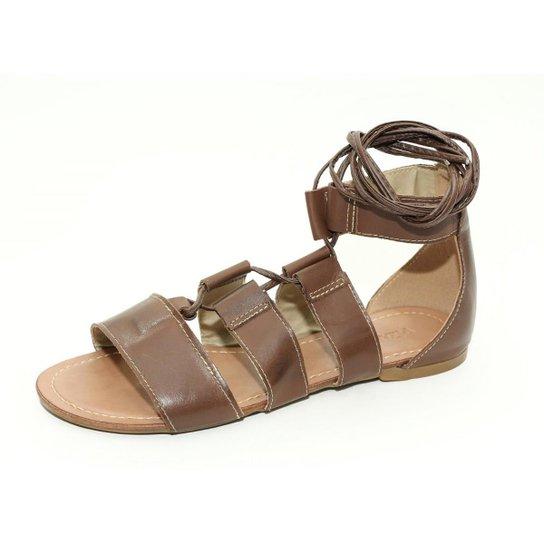 Sandalia  Top Franca Shoes  Gladiadora  Feminina - Cafe