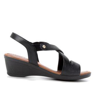 Sandália Usaflex Confort Salto Baixo Feminino