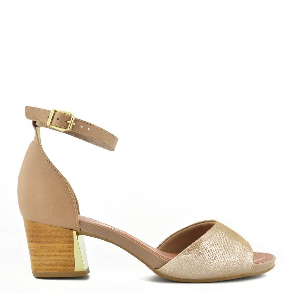 5d31f8173 Sandalia Usaflex Couro Nude - Compre Agora | Zattini