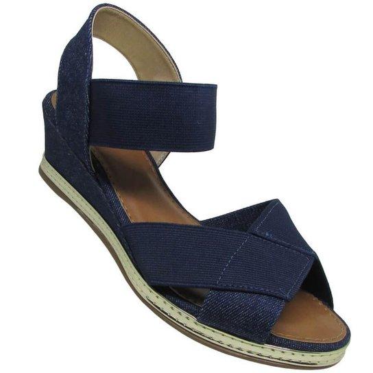 Sandália Via Scarpa Jeans London Feminina - Marinho