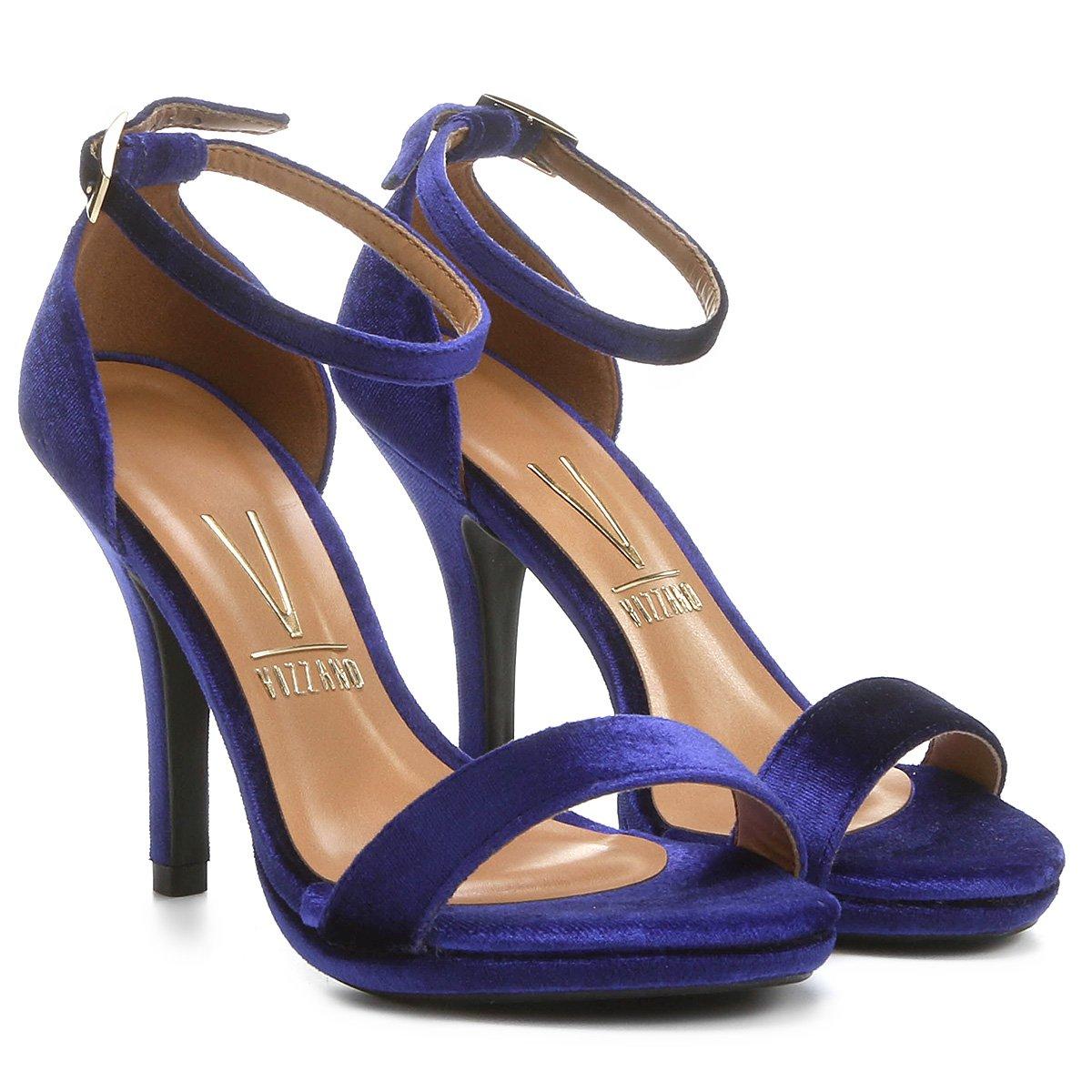 eb48cf5c9a Sandália Vizzano Tira Veludo - Azul