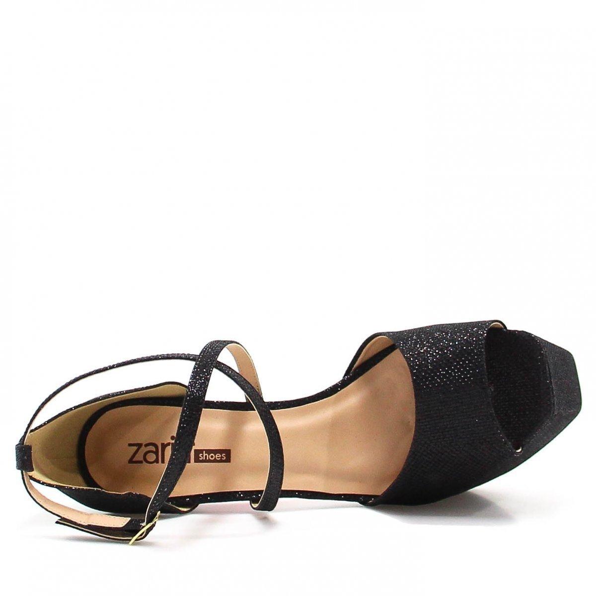 Brilho Sandália Zariff Preto Shoes Zariff Pata Sandália Meia UFzgPqCw