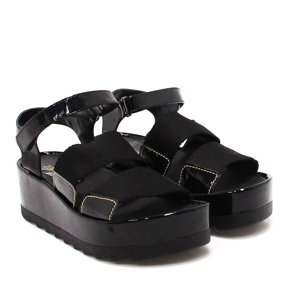 Sandália Plataforma Verniz Plataforma Sandália Shoes Shoes Sandália Zariff Zariff Preto Verniz Preto zw5xxq1v