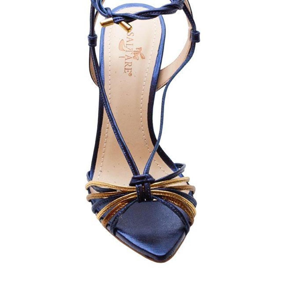Sandalias Saltare Hebe 2 Burgundy 35 - Azul e Marinho