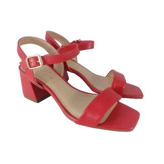 Sandálias Salto Bloco SapatoWeb Couro