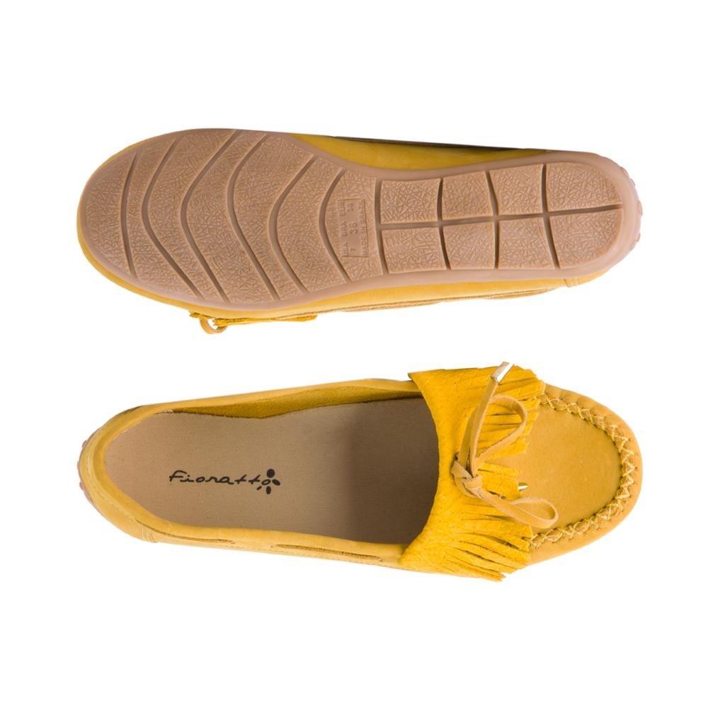 Com Amarelo Fioratto Sao Mocassin Fioratto Com Franja Franja Mocassin Sao xnF67FY