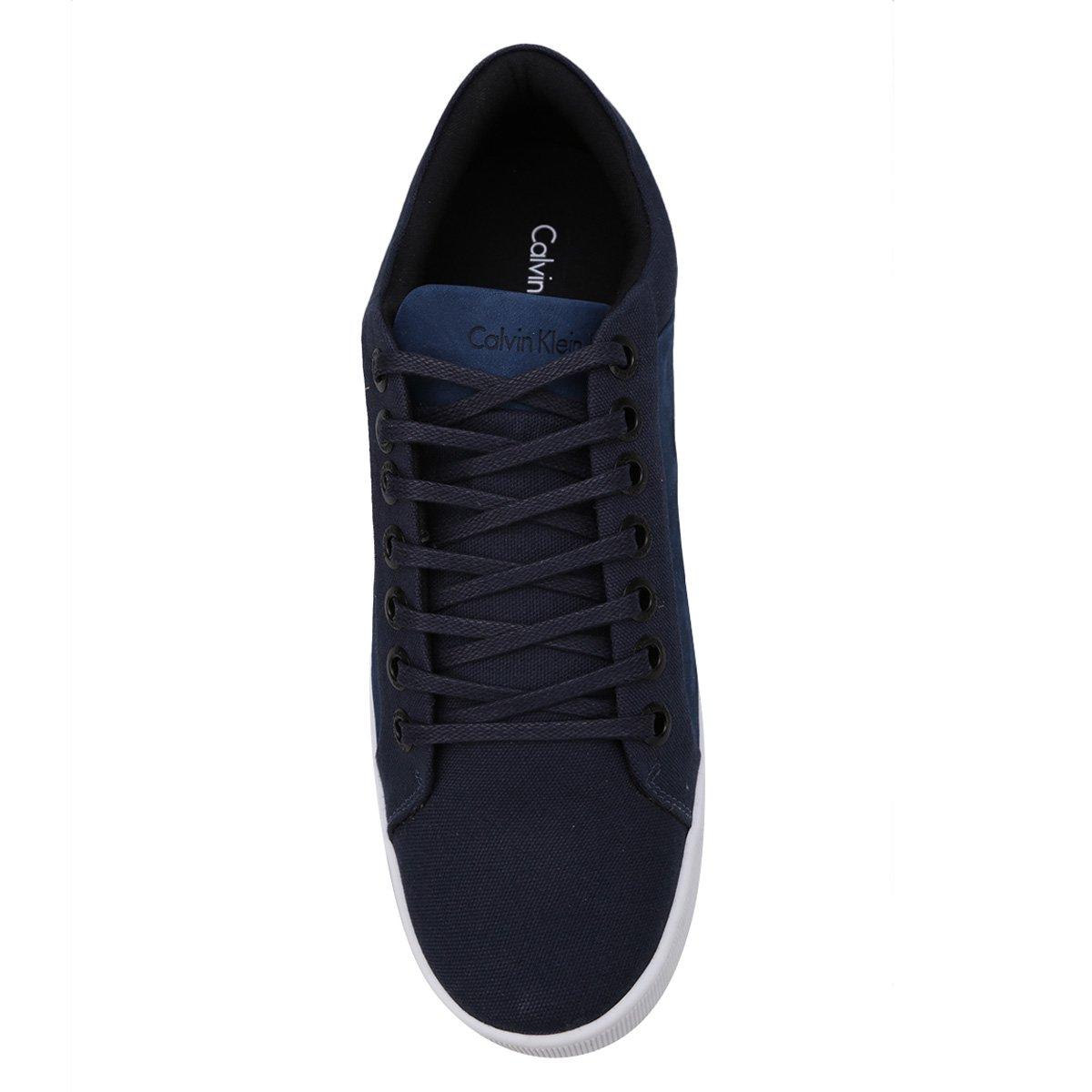 9375b47ab7ba6 15a37edce228ca  Sapatênis Calvin Klein Basic Masculino - Azul Escuro -  Compre Agora ... c863435708bfd2 ...