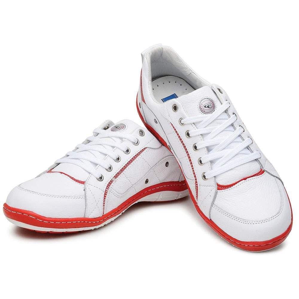 e Sapatênis Couro Cle Couro Cle Branco Cla Vermelho e Branco Cla e Sapatênis e p88Cqd