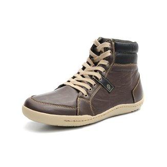Sapatenis Couro Shoes Grand Cano Alto Masculino