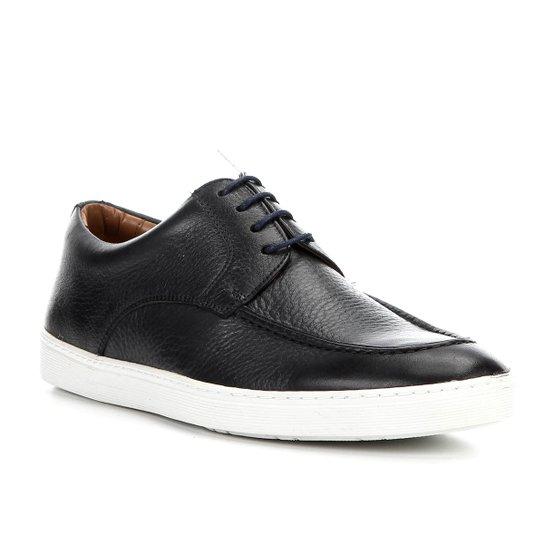 Sapatênis Couro Shoestock Clássico Masculino - Marinho