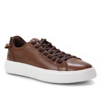 Sapatênis Couro Shoestock Confort Basic Masculino