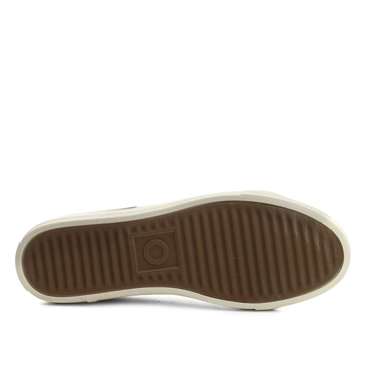 Masculino Lateral Sapatênis Recorte Marrom Shoestock Couro Sapatênis Couro xw1TnSwqY