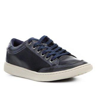Sapatênis Couro Shoestock Recortes Masculino