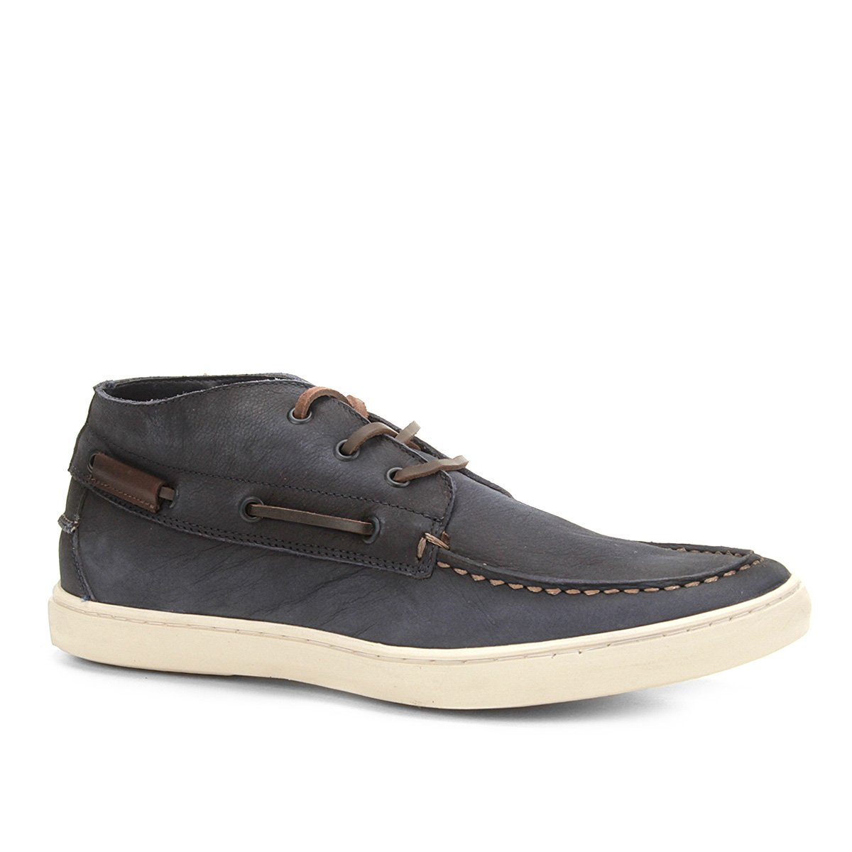 e760d5ff2c Sapatênis Couro Shoestock Sider Stoned Cano Alto Masculino - Marinho - Compre  Agora
