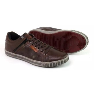 Sapatênis Couro Tchwm Shoes Elastico Ziper Masculino