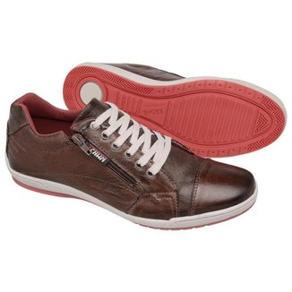 Sapatênis Couro Tchwm Shoes Ziper Lateral Masculino