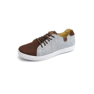 Sapatênis Metropole Jeans Destroyed E Couro Shoes Grand Masculino