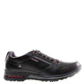 Sapatênis Pegada Leather Black Masculino 39