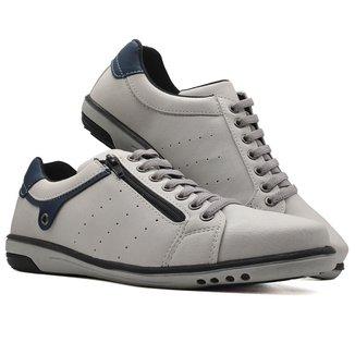 Sapatenis Sapato Tenis Masculino Casual Ziper MOD 717