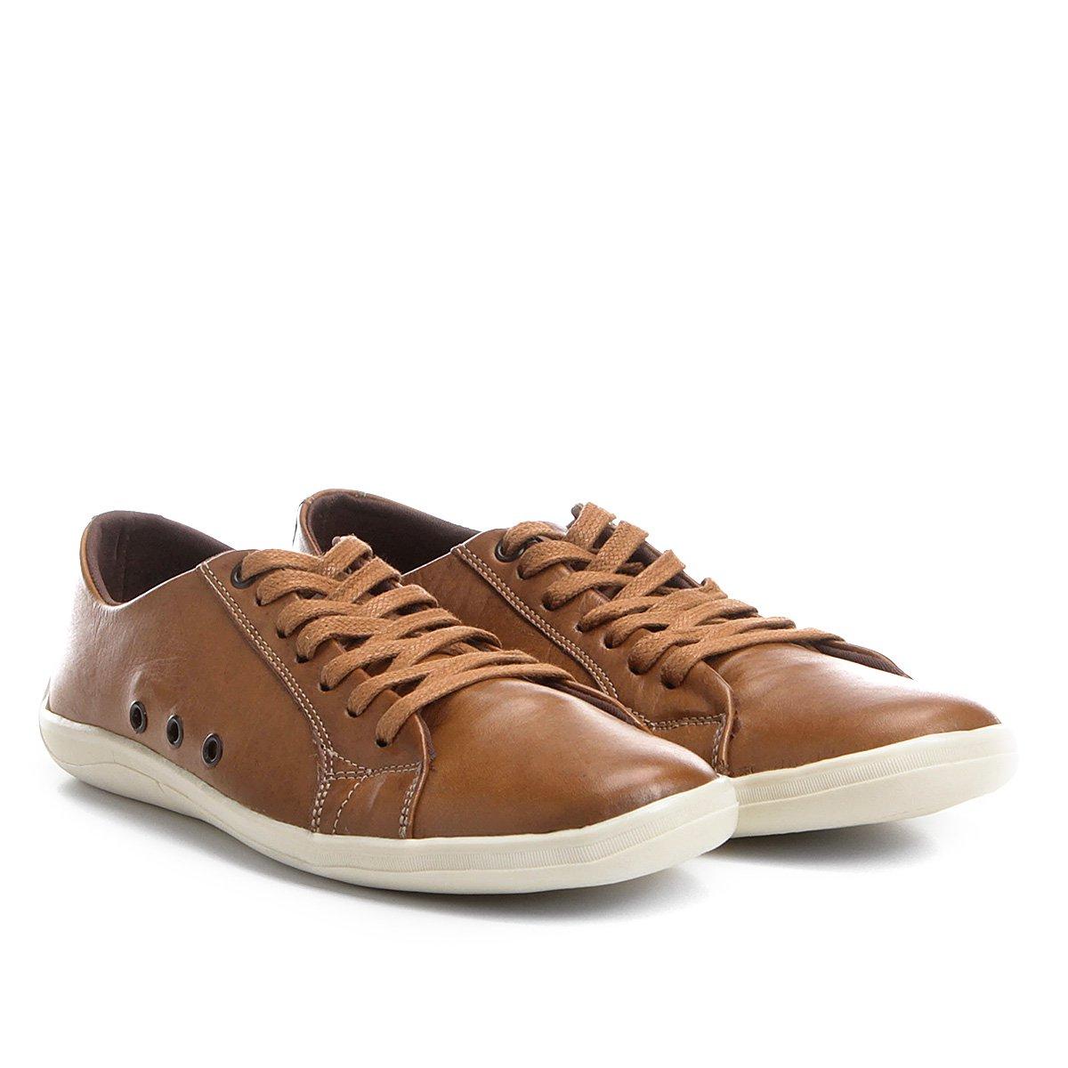 Sapatênis Sapatênis Masculino II Shoestock Bege Couro Shoestock II Couro Masculino rWInprq