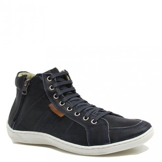 Sapatênis Zariff Shoes Cano Médio Zíper