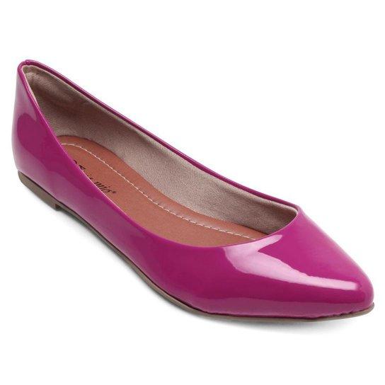 Sapatilha Aquarela Verniz Feminina - Pink
