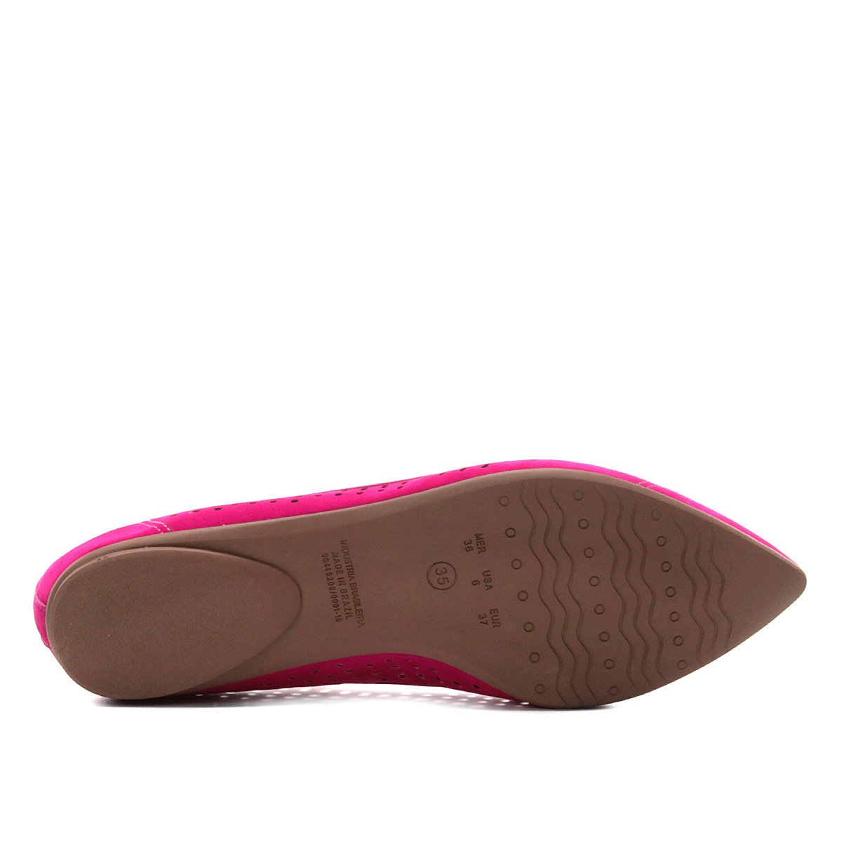 Fino Fino Laser Pink Pink Sapatilha Feminina Feminina Sapatilha Bebecê Bebecê Sapatilha Bico Bico Laser APqfXTPv