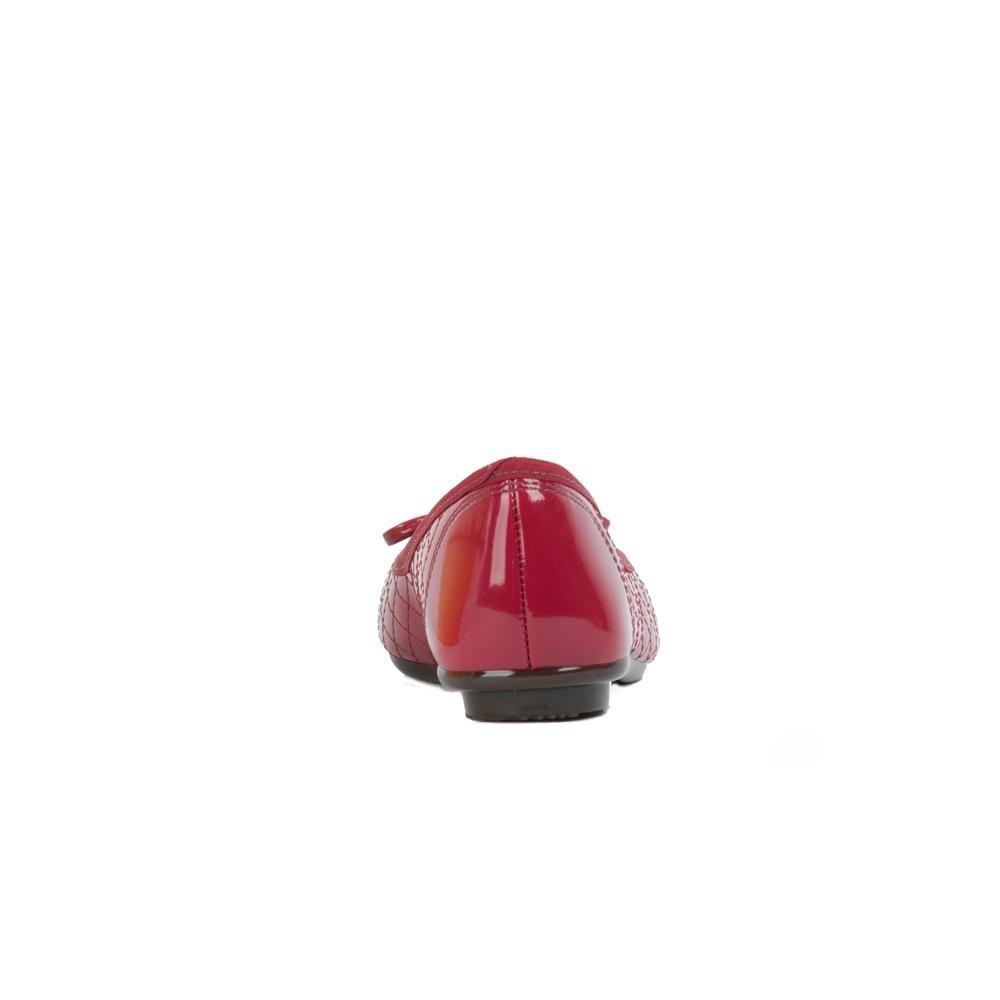 Com Moleca Moleca Com Sapatilha Vermelho Sapatilha Laço Redondo Bico Laço Bico Redondo Vermelho TxAzdaw