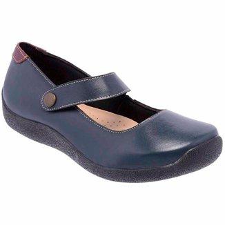 Sapatilha Conforto D&R Shoes em Couro Feminina