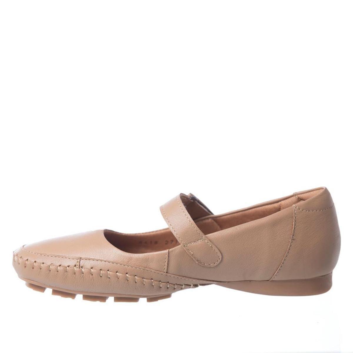 Sapatilha Couro Doctor Shoes Feminina - Bege