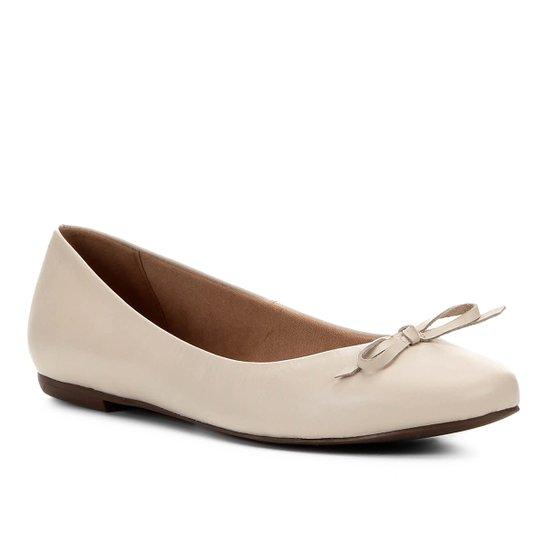 Sapatilha Couro Shoestock Basic Color Feminina - Branco