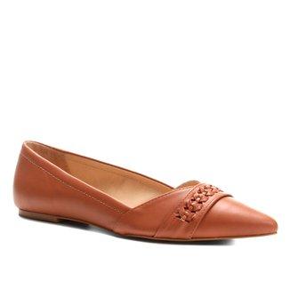 Sapatilha Couro Shoestock Bico Fino Handmade Feminina