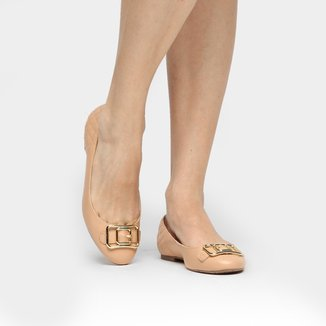 Sapatilha Couro Shoestock Fivela Feminina