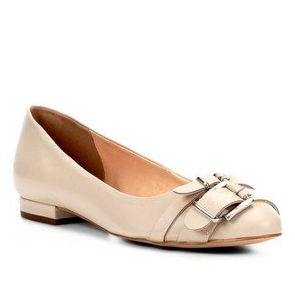 Sapatilha Couro Shoestock Fivelas Feminina