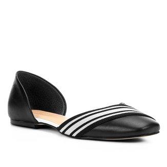 Sapatilha Couro Shoestock Gorgorão Listras Feminina