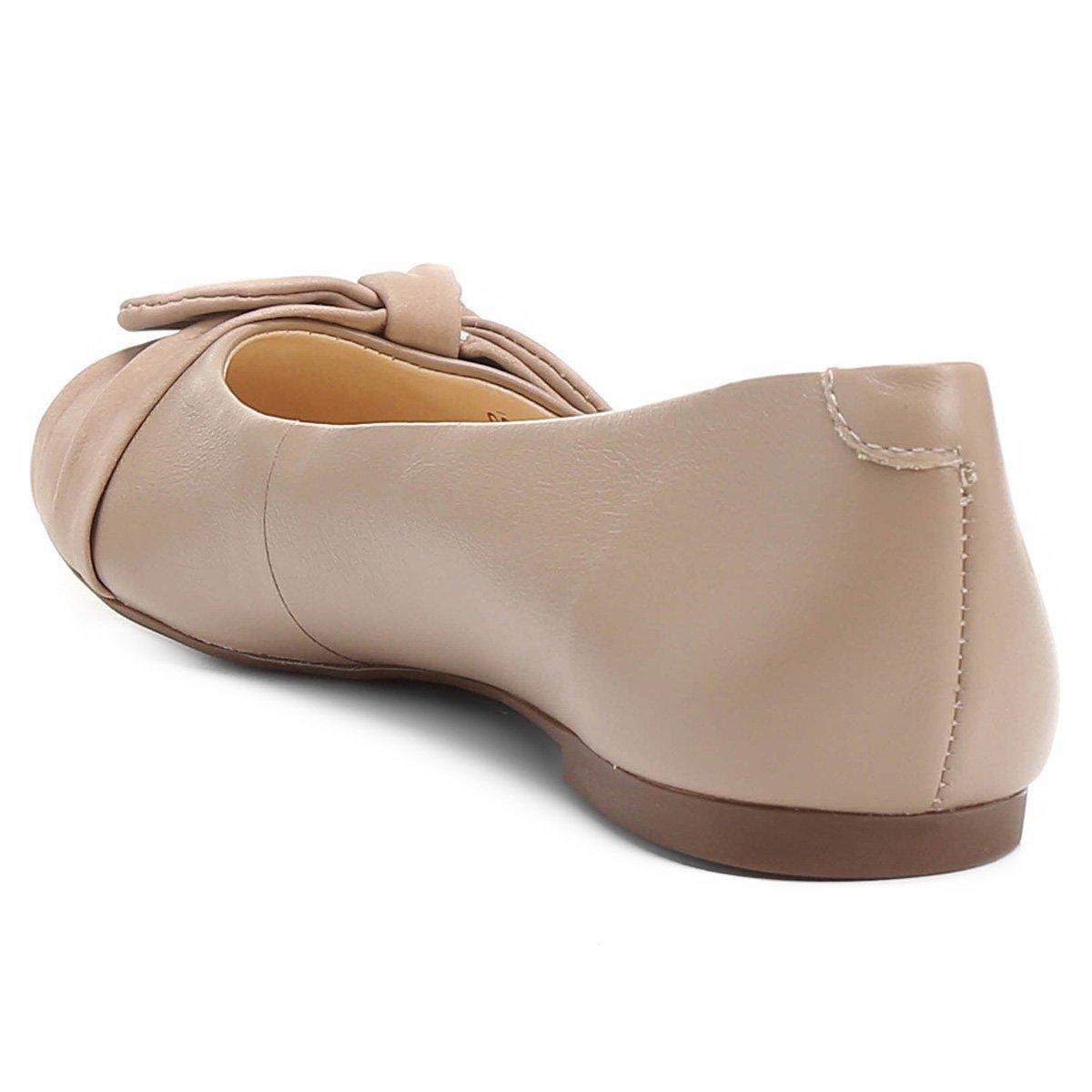 Laço Feminina Sapatilha Couro Nude Shoestock Shoestock Couro Laço Sapatilha nvAY11W