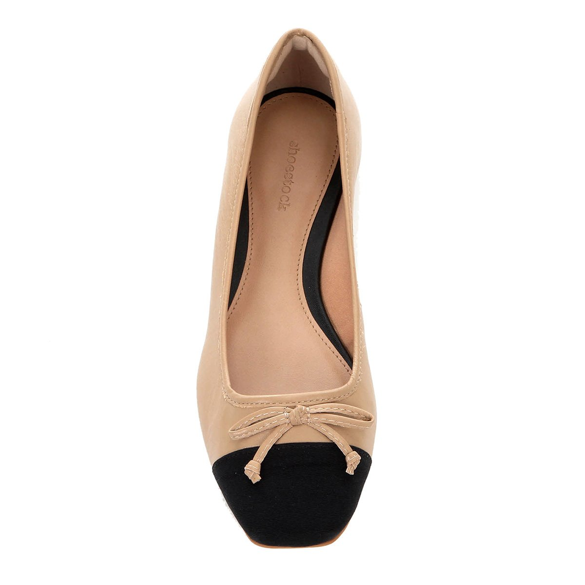 Sapatilha Couro Shoestock Laço Feminina - Bege