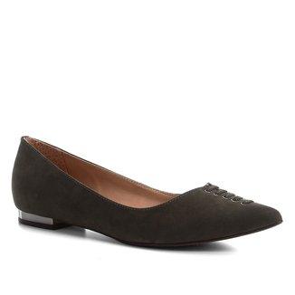 Sapatilha Couro Shoestock Nobuck Lace Feminina